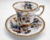 Antique Vintage Tea Cup Set,Jacobean Elizabethan Staffordshire English Bone China,Hand Decorated,Shower Wedding Mother Grandmother Gift