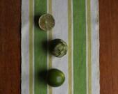 Vintage Swedish Handwovens: Lime Stripe