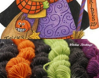 Mini Skein Set Choose Your Yarn Base -  Witch's Stockings