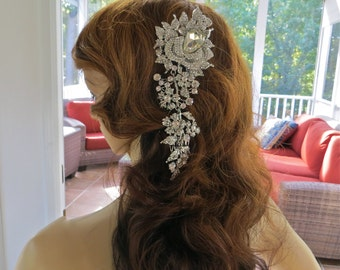 Rhinestone Crystal  Comb, Crystal  Bridal  Headpiece, Rhinestone Bridal Comb, Rhinestone Wedding Comb, Bridal Wedding Comb