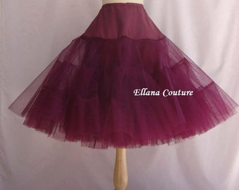 Ready To Ship. DISCOUNTED pricing. WINE Tea Length Crinoline. EXTRA Fullness Petticoat. Size M.
