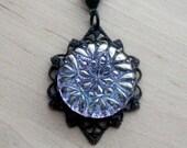 Lavender Necklace Bohemian Button Necklace Vintage Purple Boho Necklace Button Pendant Button Jewelry Bohemian Jewelry
