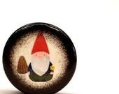 SUMMER SOLSTICE SALE Gnome Pill Box, Little Gnome Small Pill Box, Ring Box, Wedding Ring Box, Jewelry Box, Gift Box, Nature, Woodland Friend