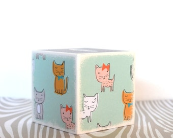Kitty Bank, Doggy Wood Bank, Kids Money Banks, Coin Bank, Handmade Gifts, Cat and Dog, Modern Kids Room Decor, Coin Box, Children