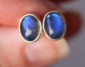 Northern Lights - Beautiful Labradorite and Sterling Silver Earrings