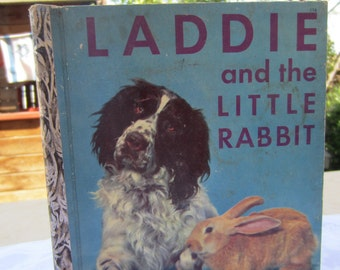 Laddie and the Little Rabbit - A Little Golden Book 1950's First Edition