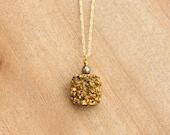 Gold Quartz + Pyrite Necklace