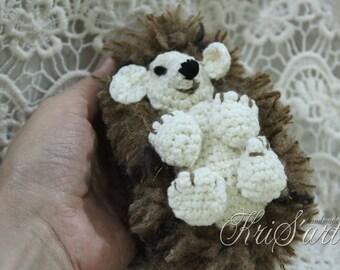 Crochet Little Fluffy Hedgehog, Crochet Childrens Toy, Hugable Fluffy Hedgehog Toy, Crochet Amigurumi Hedgehog Toy, Crochet Baby Hedgehog