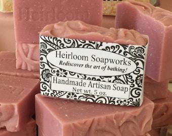 Apple-Rose-OatmealSOAP- handmade soap, oatmeal soap, heirloom soap