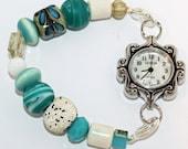 Tropical Beaches Interchangeable Beaded Single Strand Bracelet Watch Band