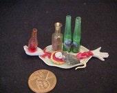 dollhouse porcelain  miniature Halloween spooky tray mouse blood IGMA Fellow J Uyetake