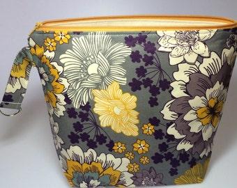 Grellow & Purple Floral Project Bag