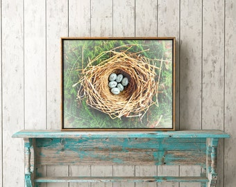 Custom Nest Print, Gift for Grandmother, Personalized Mom Gifts, Spring Decor, Grandma Gifts, Birds Nest, Triplet Baby Shower, Family Print