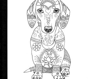 Art of Dachshund Coloring Book Volume No. 1 - Physical Book