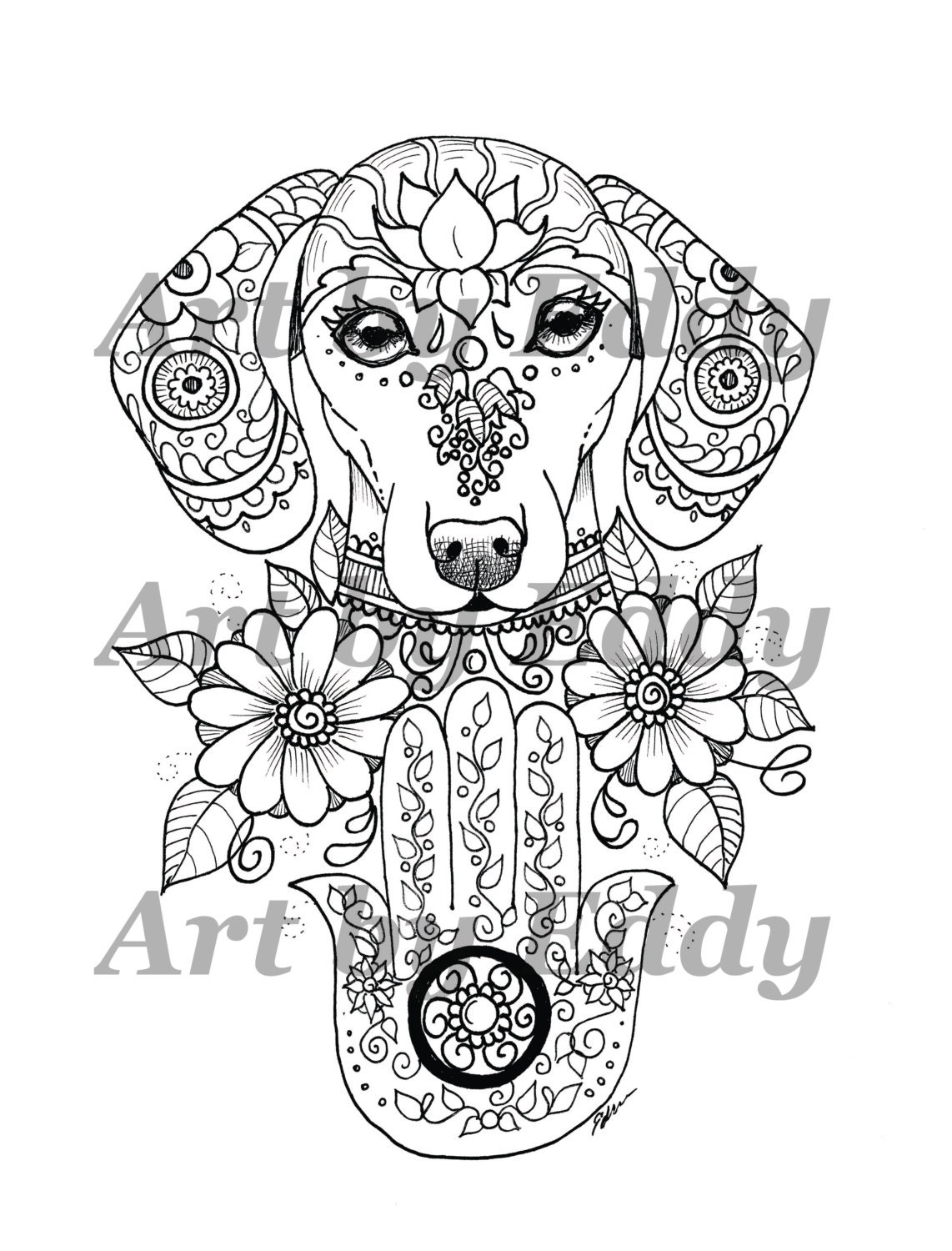hamsa coloring pages - photo#20