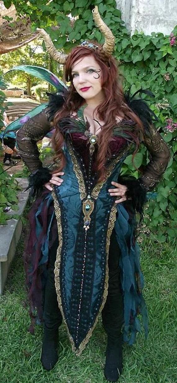 Dark Fairy Witch Or Renaissance Costume