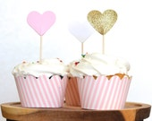Pink and White Stripe Cupcake Wrappers