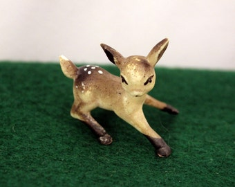 Miniature Plastic Deer Fawn Woodland Animal Figurines Fairy Mini Garden