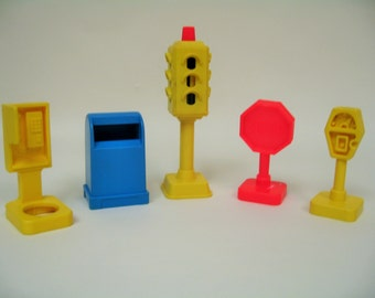 Vintage Fisher Price Main Street Pieces