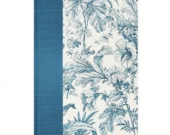 Journal Lined Paper  Blue Toile de Jouy