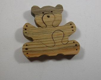 Puzzle for Child - Wooden Teddy Bear- Kids Toy