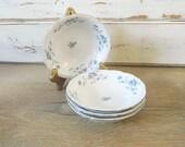 Four Johann Haviland Blue Garland Bowls - Traditions - Dessert Bowls - Sauce Bowls - Fruit Berry Bowls