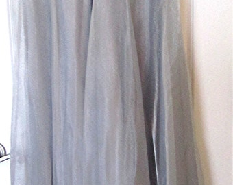 Vintage 90's JBS Silver Sheer Lined Floor Length Skirt
