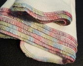 Paper Free Reusable Towels - set of 6 Tie Dyed Variegated Thread