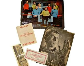 Star Trek Memorabilia - Star Trek Convention - Trekkie Convention Materials - 1973 Convention Program - Leonard Nimoy - William Shatner
