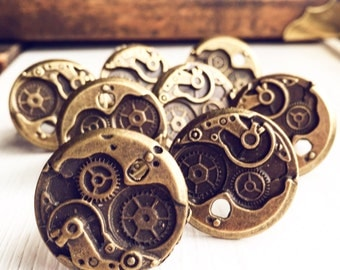 10 Rings Steampunk Gears / Wholesale Adjustable / For your Retail Store Gift Shop Resale / Handmade Wedding Bridesmaids Gifts Lot Favors
