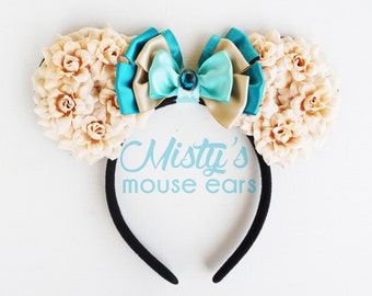 Inspired Jasmine Rose Mouse Ears