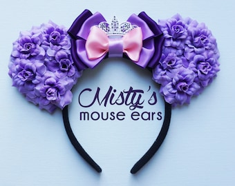 Inspired Sofia the First Rose Mouse Ears