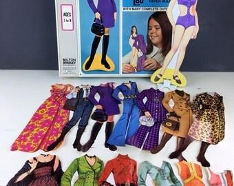 Magic Mary Lou 'Magnetic' Paper Doll Set, 1960's 1970s Teen Women's Fashion, Milton Bradley, Fun Vintage Paper Ephemera