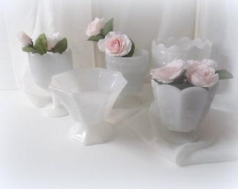 Vintage Milk Glass, Milk Glass Vases, Home & Living Home Decor Vases Wedding Centerpieces,  Candy Bar, Wedding Vases, Compotes, Planters