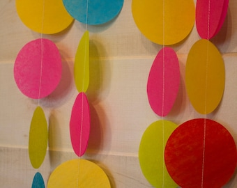Tissue Circle Dots Garland - Made to Order - Choose from over 65 colors