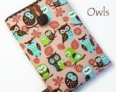 OWLS Kindle, Nook, Kobo Cases / Covers / Sleeves. Kindle Voyage, Kindle Paperwhite, Kobo Glo, Kobo Aura. Pink, turquoise, lime green. UK.