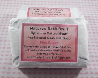Pink Sugar Soap, Natural Hot Process Soap, Handmade Soap, Natural Soap, Scented Soap, Moisturizing Soap, Goat Milk Soap