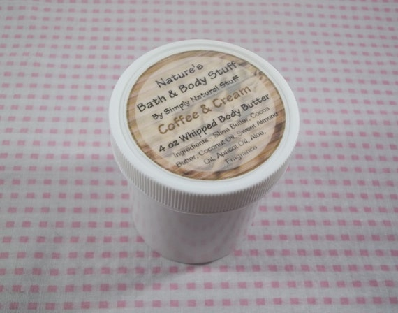 Coffee & Cream Whipped Body Butter 4oz Jar Of Body Butter