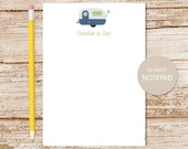 personalized camping notepad . camper note pad . personalized stationery . camp motor home RV travel notepad . camper choices