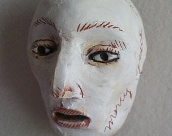 Ceramic Mask wall hanging sculpture