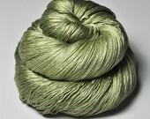 Melting pistachio ice cream OOAK - Silk Lace Yarn