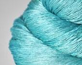 Cyan which must not be named - Silk Lace Yarn - Turquoise Hand Dyed Yarn - handgefärbte Wolle - DyeForYarn