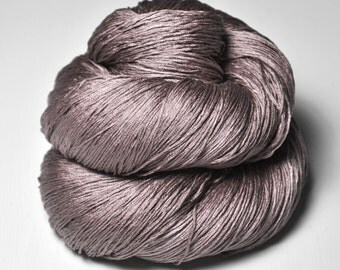 Gothic rosewood OOAK - Silk Lace Yarn - knotty skein