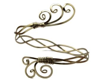 Silver Arm Bracelet, Silver Upper Arm Cuff, Upper Arm Band, Ancient Rome Armlet, Upper Arm Bracelet, Silver Arm Bangle, Bridal Arm Cuff