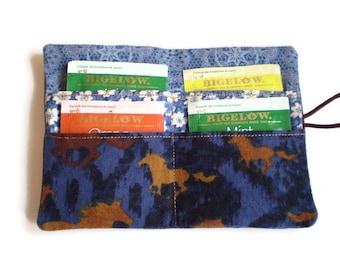Denim Teabag Wallet, Western Teabag Wallet, Tea Bag Holder, Teabag Holder, Recycled Denim Tea Wallet