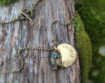 Owl Fly Free Vintage Necklace