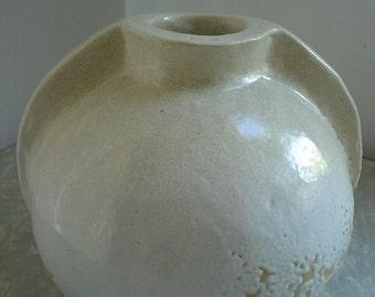 white pottery vase