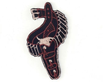 Cowboy Gun and Holster Western Velveteen New Vintage Patch Applique
