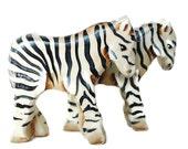Wooden Noahs Ark Zebra pair