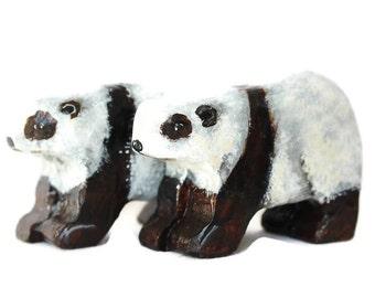 Wooden Noah's Ark Panda Pair